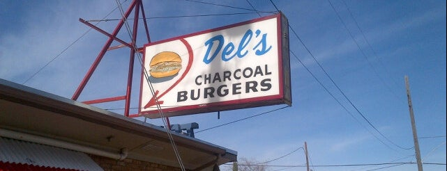 Del's Charcoal Burgers is one of DFW -More Great Food.
