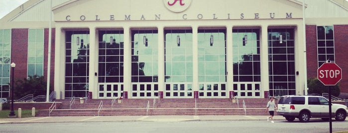 Coleman Coliseum is one of Favorites- Tuscaloosa.