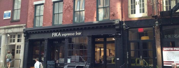 FIKA Espresso Bar is one of NYC FiDi.