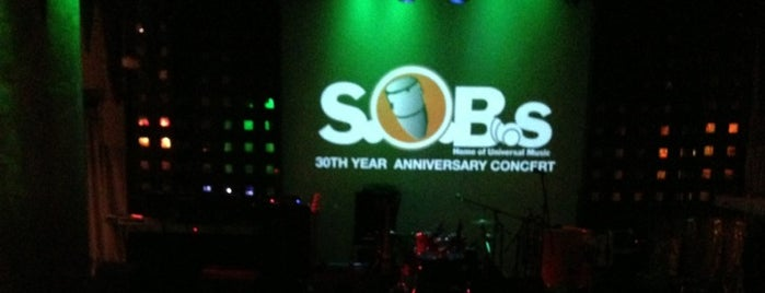 S.O.B.'s is one of West Village.