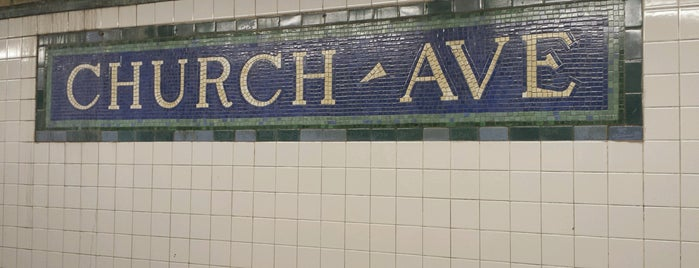MTA Subway - Church Ave (2/5) is one of B. Locations.