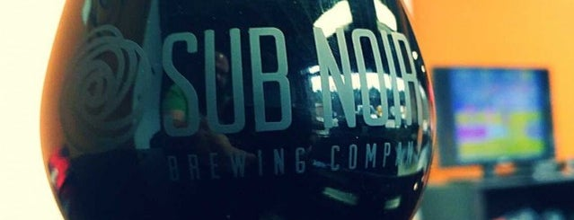Sub Noir Brewing Co. is one of Craft Beer & Breweries.