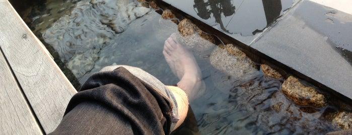 天空の足湯 is one of 温泉.