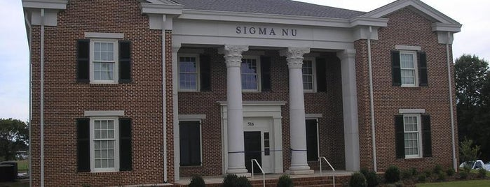 Sigma Nu is one of Sigma Nu Chapter Houses.