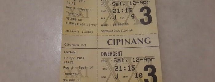Cipinang XXI is one of Watching movie's activites.
