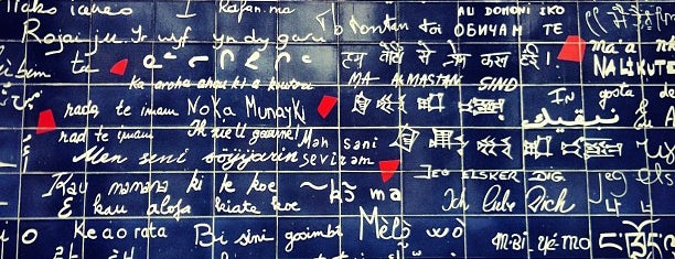 "Le Mur des ""Je t'aime"" is one of Paris."