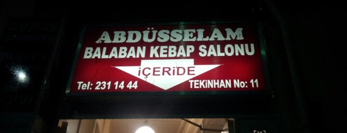 Abdüsselam Balaban Kebap Salonu is one of EsEskiki.