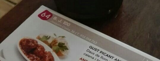 BJ 100 is one of Cenar en bcn.