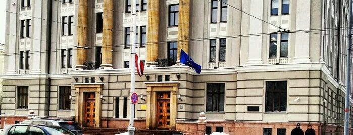 LR Ārlietu ministrija | Ministry of Foreign Affairs of the Republic of Latvia is one of Valsts iestādes/institūcijas.