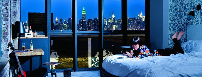 Wythe Hotel is one of Bon Appétit City Guide to New York.