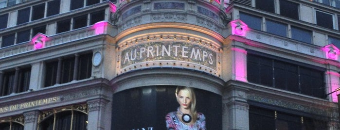 Printemps Haussmann is one of Paris.