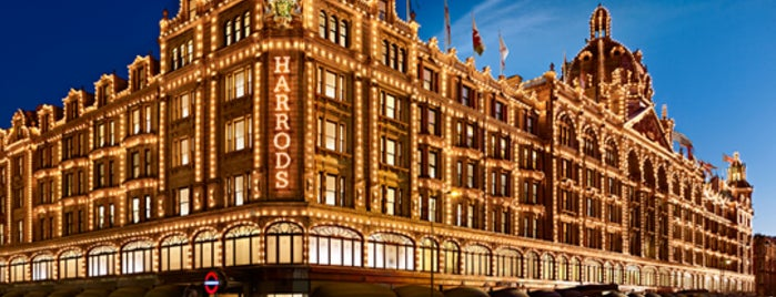 Harrods is one of Hand Drawn Map of London.