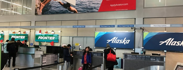Alaska Airlines Ticket Counter is one of Private Car and Limousine Services.