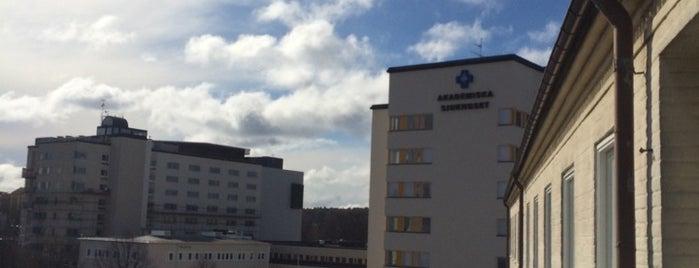 Akademiska sjukhuset is one of Universitetsbyggnader Uppsala.