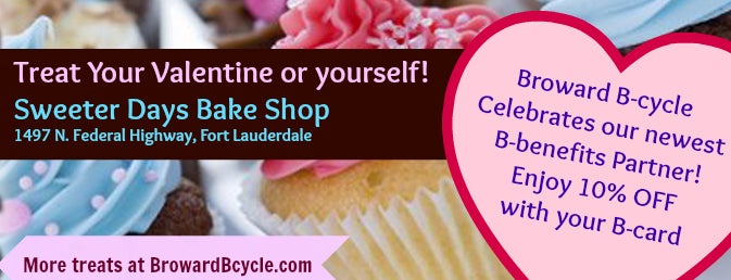 Sweeter Days Bake Shop is one of Bicycle-Friendly & Local Businesses in Broward.