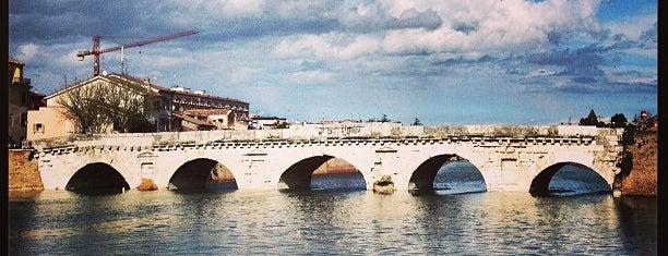 Ponte di Tiberio is one of 36 hours in...Rimini.