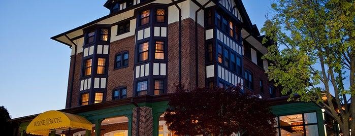 Wayne Hotel is one of Romantic Philadelphia.