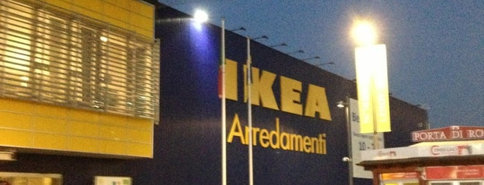 IKEA is one of centri commerciali.