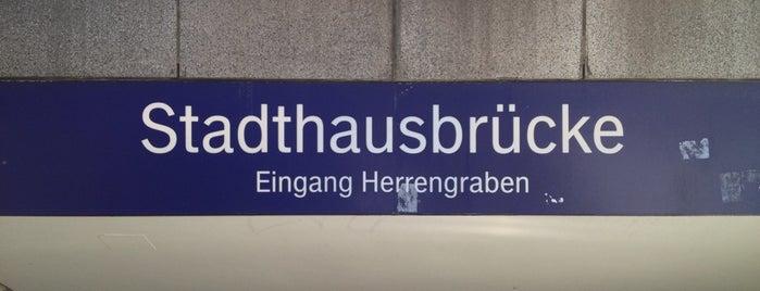 S Stadthausbrücke is one of Go.
