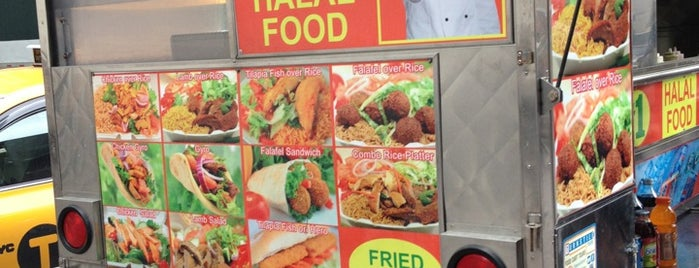 Adel's best #1 Halal Food Cart is one of NYC: FiDi Luncher.