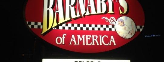 Barnaby's of America is one of 20 favorite restaurants.