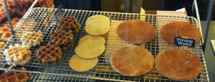 Wafels & Dinges Cafe is one of NYC Treats.