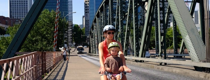 Hawthorne Bridge is one of Portland by Bike.