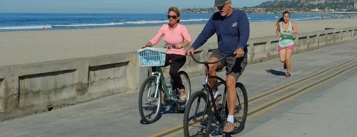 Mission Beach Boardwalk is one of Bikabout San Diego.
