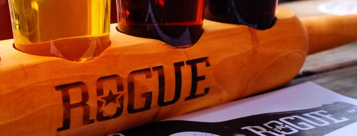 Rogue Ales Public House & Distillery is one of Portland by Bike.