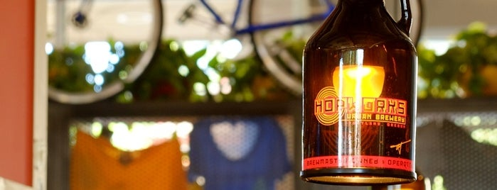 Hopworks BikeBar is one of Portland by Bike.