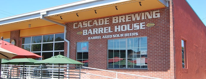 Cascade Brewing Barrel House is one of Portland by Bike.