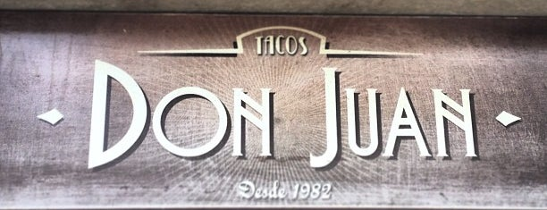 Tacos Don Juan is one of mexico city.