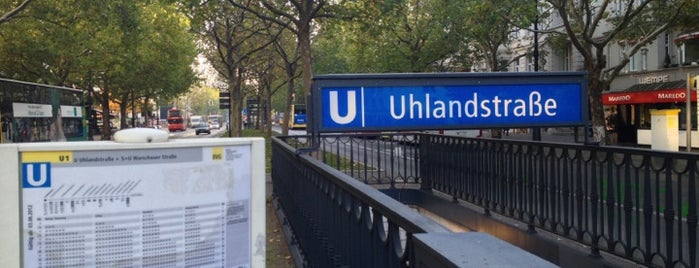 U Uhlandstraße is one of U-Bahn Berlin.