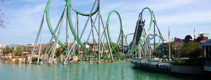 The Incredible Hulk Coaster is one of Atlanta Miami.