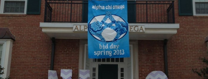 Alpha Chi Omega - Gamma Theta Chapter is one of Places.