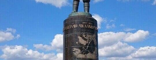 Monument to Valery Chkalov is one of Что посмотреть в Нижнем Новгороде.