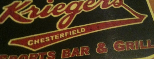 Krieger's Chesterfield Sports Bar is one of Favorite Food.