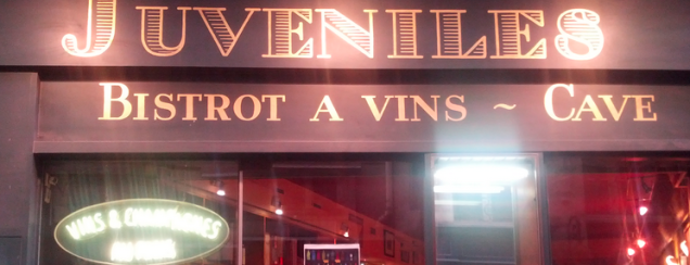 Juveniles is one of The VERY best wine bars in Paris.