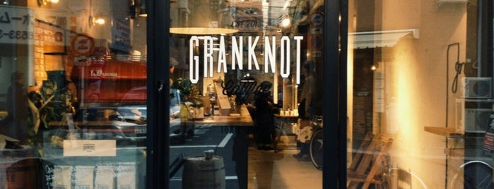 GRANKNOT coffee is one of 大阪.