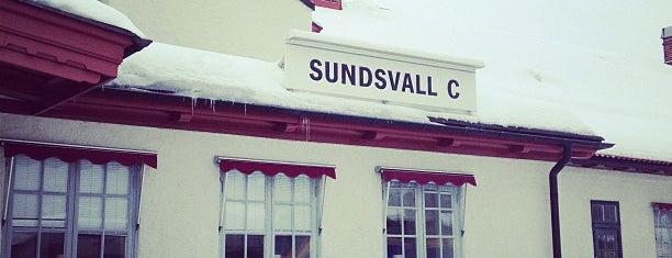 Sundsvall Centralstation is one of Tågstationer - Sverige.