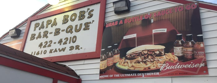 Papa Bob's Bar-B-Que is one of Man v Food Nation.