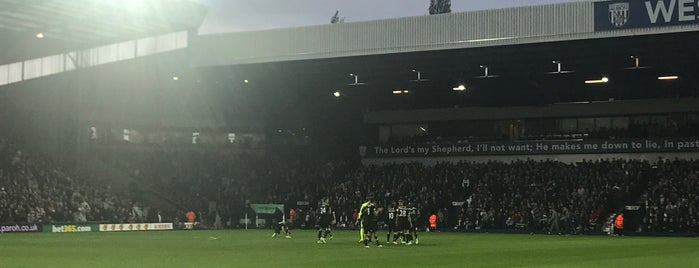 The Hawthorns is one of Football grounds visited.