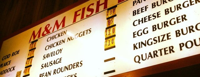 M & M Fish Bar is one of I want to try....