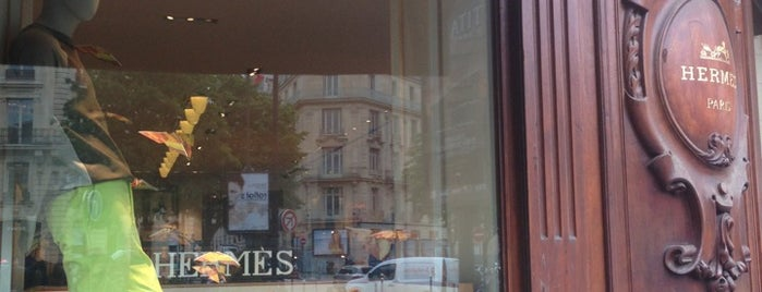 Hermès is one of Paris boutique and malls.