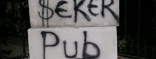şeker pub is one of Adana Gece Hayatı Turgut Özal Mado Yakını.