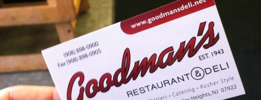 Goodman's Deli & Restaurant is one of You Hungry?.