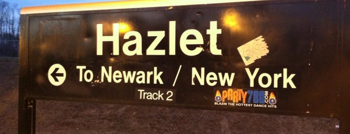 NJT - Hazlet Station (NJCL) is one of New Jersey Transit Train Stations I Have Been To.
