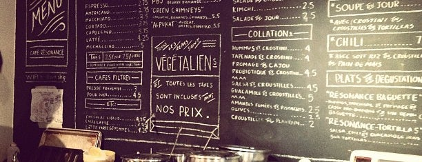 Café Résonance! is one of The 15 Best Places for a Healthy Food in Montreal.