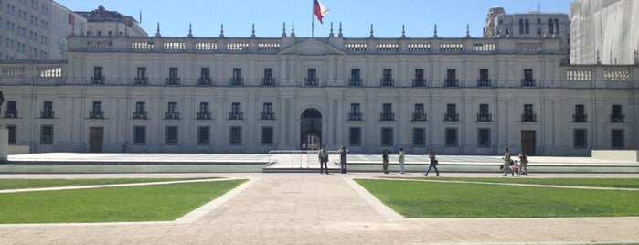 Palacio de La Moneda is one of chile.