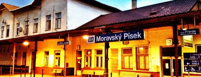 Železniční stanice Moravský Písek is one of Železniční stanice ČR: M (7/14).
